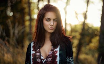 Green eyes woman gorgeous model