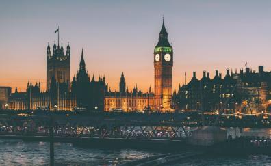 Clock tower big ban london night