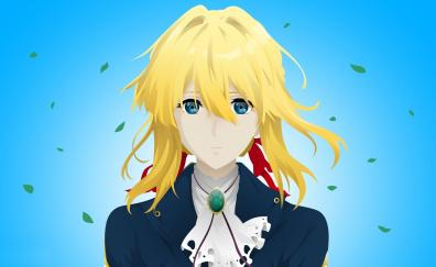 Beautiful, art, blonde, Violet Evergarden