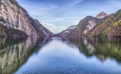 Mountains lake reflections