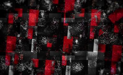 Glitch art abstract dark 4k