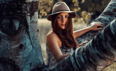 Brown eyes beautiful girl model