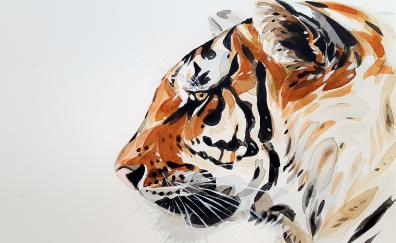 Tiger muzzle art