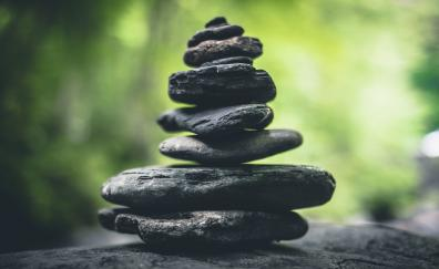 Rocks, dark, zen, meditation, balance