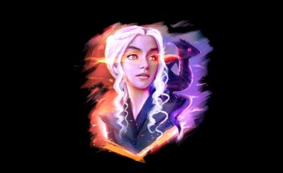 Daenerys targaryen and dragon fan art