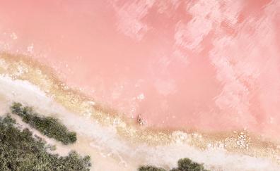 Ios ipad beach aerial view stock 4k