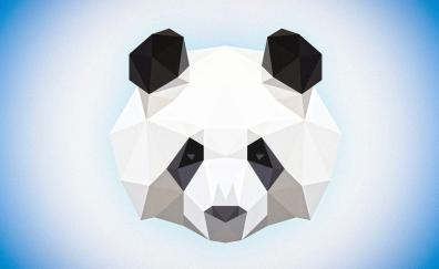 Muzzle low poly panda abstract