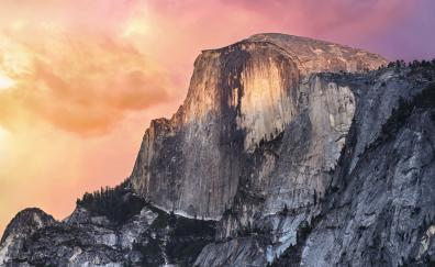 Half dome, Yosemite Valley, national park, mountains