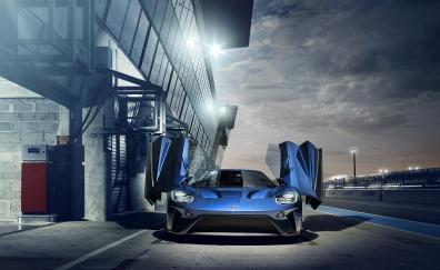 Ford gt blue front