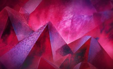 Pyramids pink abstract