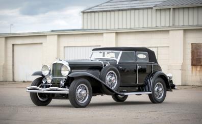 Black 1933 duesenberg model sj car