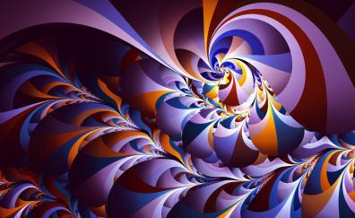 Swirl fractal pattern