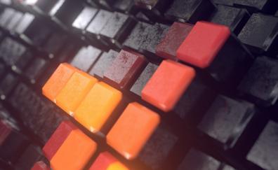 3D cubes, surface, macro