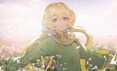 Blonde anime girl aria futaba