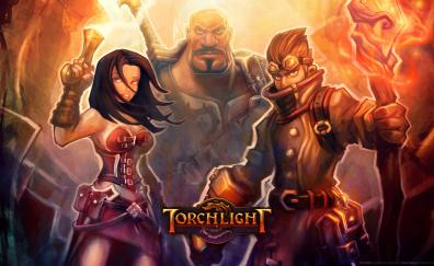 Video game torchlight warriors