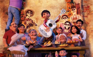 Coco, animated movie, family, dance, 2017