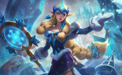 Cute, Soraka, snow queen, League of Legends