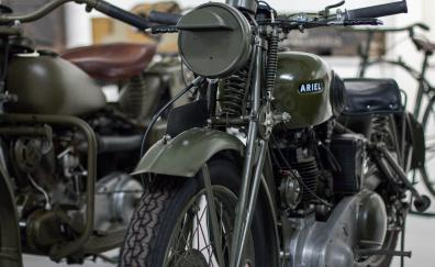 Vintage motorycle 4k