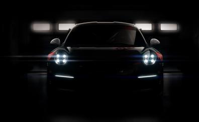 Headlight dark porsche 911 gt3 r car