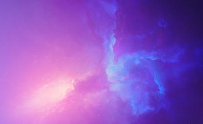 Spacescape, cosmos, clouds, nebula