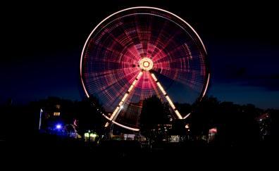 Ferris wheel amusement park night dark 5k