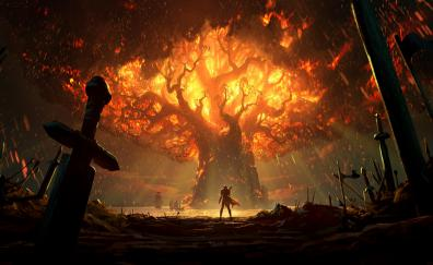 World of Warcraft: Battle for Azeroth, teldrassil burns, video game