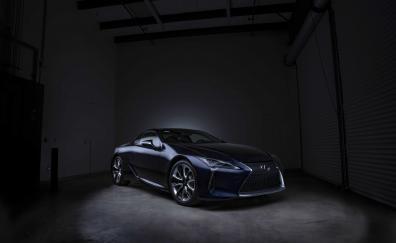Lexus black panther lc 500 front