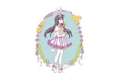 Cute homura akemi anime girl