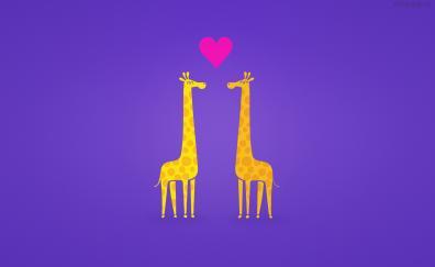 Giraffe couple cartoon