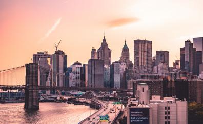 Manhattan bridge new york us