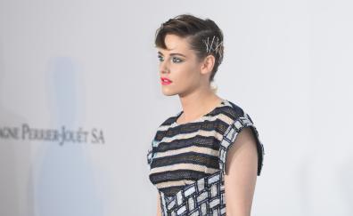 Woman, actress, short hair, red lips, Kristen Stewart