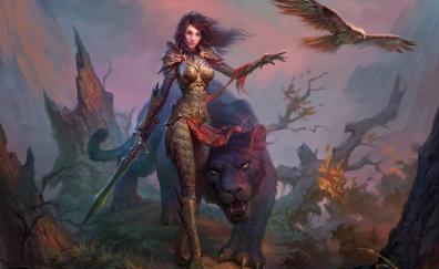 Dragon eternity video game woman black panther