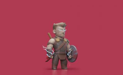 Thor: Ragnarok, god of thunder, 3d art