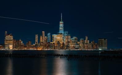 New york usa night city