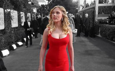 Scarlett johansson red dress