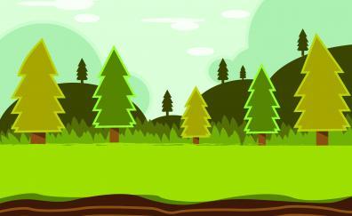Forest trees landscape digital art