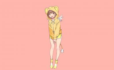 Hoodie yellow sakura kinomoto smile