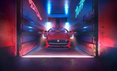 Neon lights jaguar f type