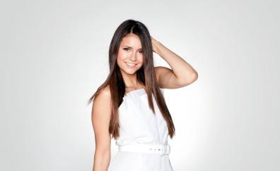 White dress smile nina dobrev