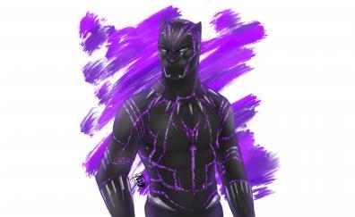 Black panther superhero fan artwork