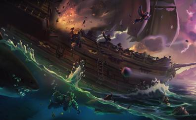 Sea of thieves, ship, pirates, video game