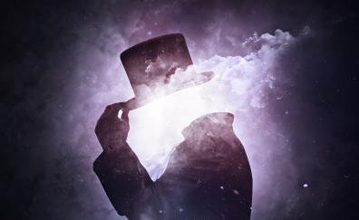 Fantasy, Hollow man, surreal, smoke, dark, artwork