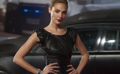 Brunette black dress gal gadot