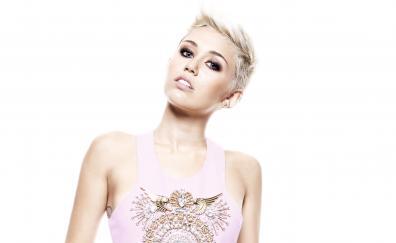 Blonde, singer, short hair, Miley Cyrus
