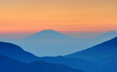 Mountains landscape dawn sunrise 4k