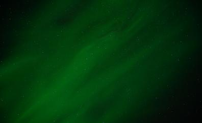 Northern lights green sky nature