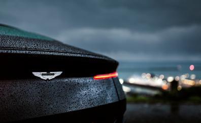 Aston Martin DB11, drops, rain, rear, taillight