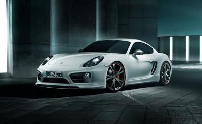 Porsche cayman white sports car