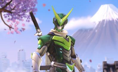 Overwatch genji green skin anniversary