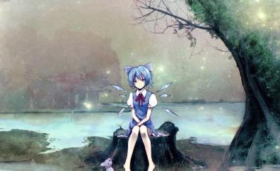 Cirno touhou anime girl outdoor